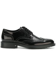 Tod's Lace Up Derby Shoes Black