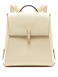Valextra Iside Saffiano Leather Backpack White