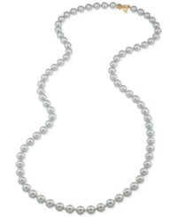 Carolee Gold Tone Gray Imitation Pearl Rope Necklace