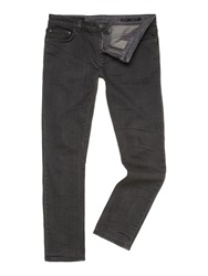 Label Lab Ash Slim Leg Mid Wash Denim Jean Grey