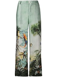 F.R.S For Restless Sleepers Tartaro Printed Silk Trousers 60