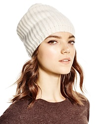 C By Bloomingdale's Cashmere Ribbed Slouch Hat Ivory