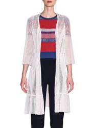 Giorgio Armani Long Knit Cardigan White