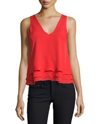 Parker Alejandra Layered Hem Tank Red