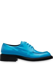 Prada Dual Tone Derby Shoes Blue