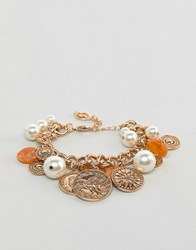 Stradivarius Chain Coin Bracelet Gold