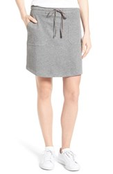 Caslonr Women's Caslon Drawstring Waist French Terry Skirt Heather Dark Grey