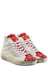 Golden Goose Francy High Top Canvas Sneakers Multicolor