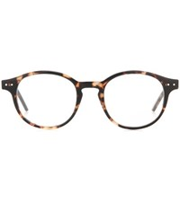 Bottega Veneta Round Frame Glasses Brown