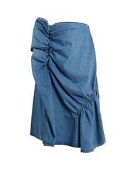 J.W.Anderson Ruffle Trimmed Denim Skirt