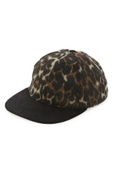 Topman Men's Aaa Collection Leopard Print Snapback Cap