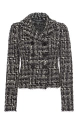 Dolce And Gabbana Double Breasted Tweed Jacket Dark Grey