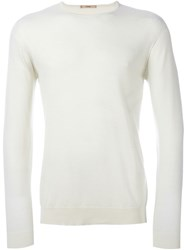 Nuur Fine Knit Jumper White