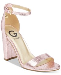 G By Guess Shantel Two Piece Sandals Women's Shoes Light Pink