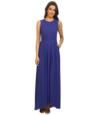Shoshanna Mabrey Maxi Gown Royal Blue Women's Dress