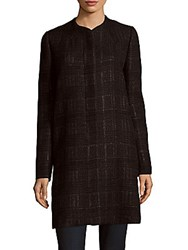 Carolina Herrera Textured Long Sleeve Jacket Black