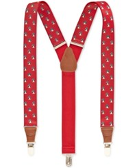 Club Room Animal Printed Suspenders 32Mm Only At Macy's Red Penguin
