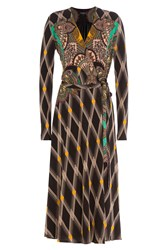 Etro Printed Midi Dress Black