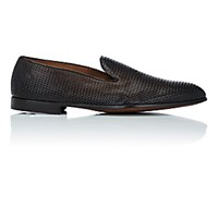 Doucal's Men's Woven Venetian Loafers Brown