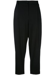 Dolce And Gabbana Cropped Harem Trousers Black