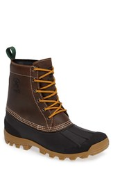 Kamik Men's Yukon6 Waterproof Work Boot Dark Brown Leather