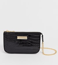River Island Mini Bag With Chain Handle In Black