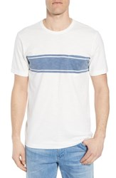 Faherty Surf Stripe Pocket T Shirt White Surf Stripe