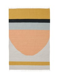 Ferm Living Kelim Semicircle Wool And Cotton Rug