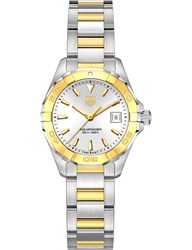 Tag Heuer Way1455bd0922 Aquaracer Gold And Stainless Steel Watch White
