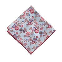 J.Crew Irish Linen Pocket Square In Dandy Floral Multi Amber