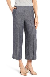 Halogenr Women's Halogen Wide Leg Crop Linen Pants