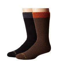 Carhartt Arctic Thermal Crew Socks 2 Pair Pack Brown Men's Crew Cut Socks Shoes