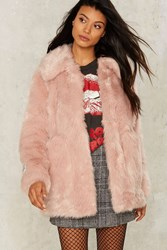 Jakke Tammy Faux Fur Coat Pink
