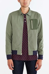 Charles And 1 2 Wool Pocket Jacket Olive