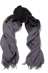 Chan Luu Ombre Cashmere And Silk Blend Scarf Storm Blue
