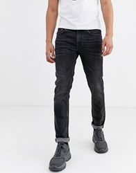 Love Moschino Slim Jeans With Back Pocket Patch Blue