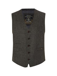 White Stuff Billiard Herringbone Waistcoat Grey
