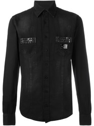 Philipp Plein 'Follow Me' Denim Shirt Black