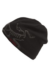 Men's Arc'teryx 'Bird Head' Wool Blend Toque Hat Black Blackbird