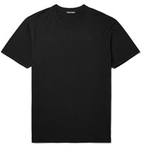 Tom Ford Lyocell And Cotton Blend Jersey T Shirt Black