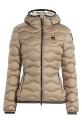 Blauer Wave Quilted Down Jacket Brown