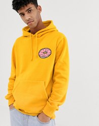 Pull And Bear Homer Simpson Hoodie In Yellow Yellow