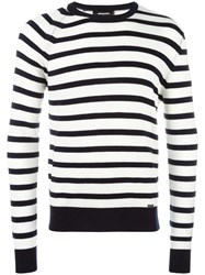Dsquared2 Striped Crew Neck Jumper Black