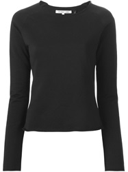 Helmut Lang Raw Edge Sweatshirt Black