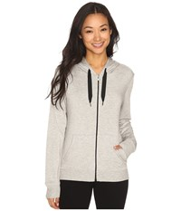 Beyond Yoga Cozy Fleece Cowl Back Hoodie Heather Gray Women's Sweatshirt