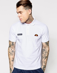 Ellesse Polo Shirt With Classic Logo White