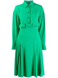 Rochas Lightweight Shirt Dress Green