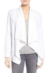 Women's Nydj Cotton Blend Cascade Front Jacket Optic White