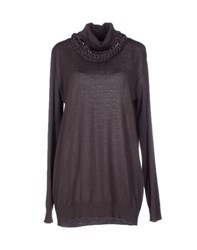 Clips Knitwear Turtlenecks Women Dark Purple