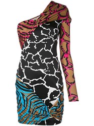 Versace Mixed Printed Dress Multicolour